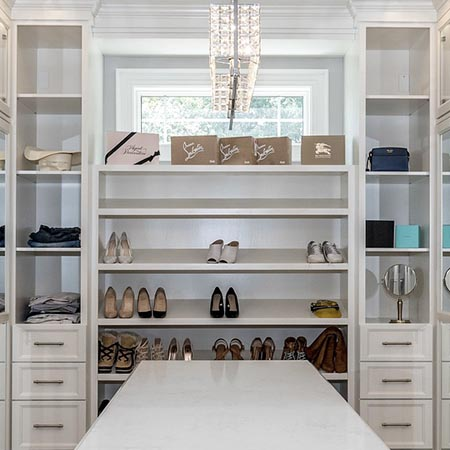 Built-In White Closet | Adam Peters Construction