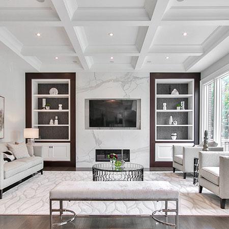Custom Ceiling Box Trims | Adam Peters Construction