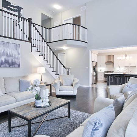 Home Living Room Entryway | Adam Peters Construction