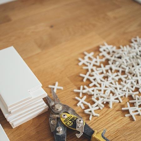 Kitchen Tiles Set Up | Adam Peters Construction
