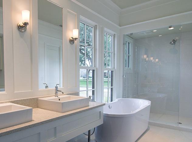 White Tile Bathroom | Adam Peters Construction