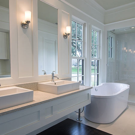 White Bathroom | Adam Peters Construction