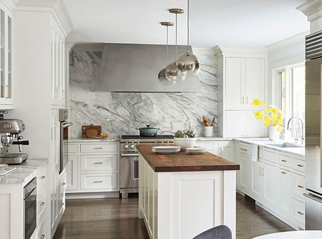 Marble Kitchen Design | Adam Peters Construction